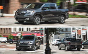 a car driving on a city street: Long-Term Test Intro: Honda's Ridgeline Signs on for 40,000 Miles
