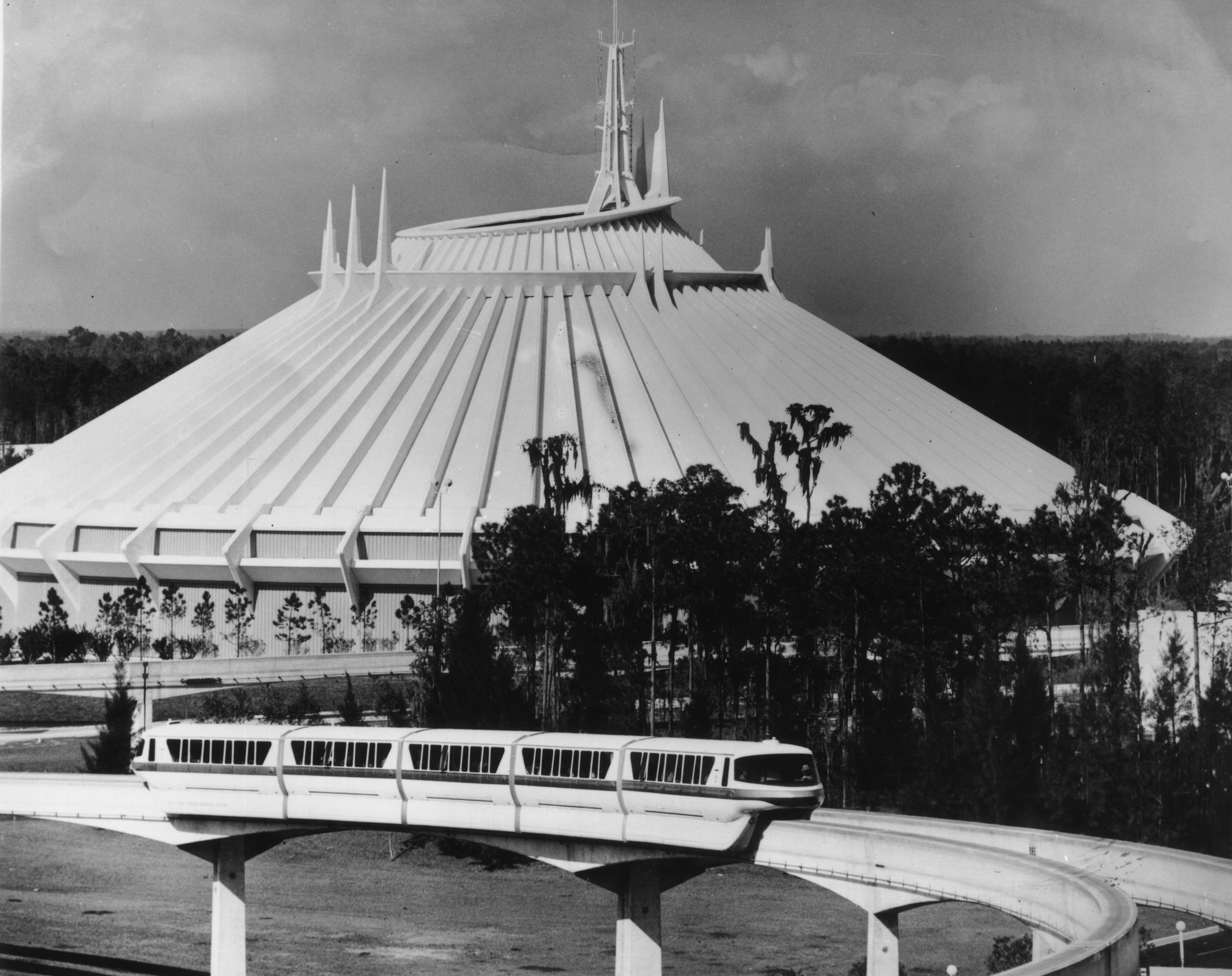 Slide 26 of 33: 26th February 1979:  Space Mountain at Disney World in Florida.  (Photo by Central Press/Getty Images)