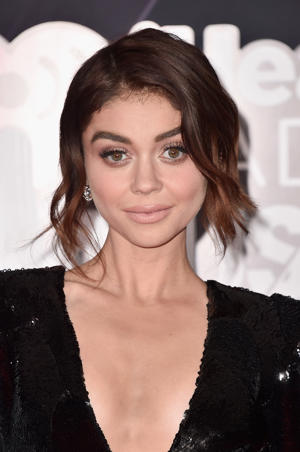 INGLEWOOD, CA - MARCH 11:  Sarah Hyland arrives at the 2018 iHeartRadio Music Awards which broadcasted live on TBS, TNT, and truTV at The Forum on March 11, 2018 in Inglewood, California.  (Photo by Alberto E. Rodriguez/Getty Images)