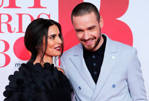 Cheryl Tweedy and Liam Payne arrive at the Brit Awards at the O2 Arena in London, Britain, February 21, 2018.