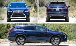 a car parked on the side of a road: The Lexus RX450hL Is One Conflicted SUV