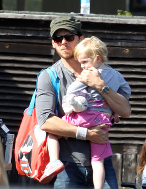 File photo date September 2012 of Simon Pegg and his daughter Matilda.