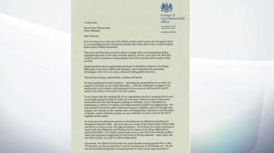 Boris Johnson's resignation letter - page one