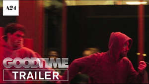 "a person holding a sign: SUBSCRIBE: http://bit.ly/A24subscribe  From directors Josh and Benny Safdie and starring Robert Pattinson. GOOD TIME – Now Playing.  RELEASE DATE: August 11, 2017 DIRECTOR: Ben Safdie, Joshua Safdie CAST: Robert Pattinson, Jennifer Jason Leigh, Barkhad Abdi ORIGINAL SCORE: Oneohtrix Point Never MUSIC: ""Hospital Escape"" by Oneohtrix Point Never, ""The Pure And The Damned"" by Oneohtrix Point Never ft. Iggy Pop. http://pointnever.com  Visit GOOD TIME WEBSITE: http://bit.ly/GoodTimeMovie Like GOOD TIME on FACEBOOK: http://bit.ly/GoodTimeFB Follow GOOD TIME on Twitter: http://bit.ly/GoodTimeTW Follow GOOD TIME on Instagram: http://bit.ly/GoodTimeIG  NOW AVAILABLE FOR RENT OR PURCHASE!   Rent or buy it on iTUNES: http://bit.ly/GoodTimeMovie_iTunes Rent or buy it on AMAZON: http://bit.ly/GoodTimeMovie_Amazon Buy it on DVD/BLU-RAY: http://bit.ly/GoodTimeMovie_Blu-ray Rent or buy it on YouTube: http://bit.ly/GoodTimeMovie_YouTube  ------  ABOUT A24: Official channel for A24, the people behind Moonlight, The Lobster, The Witch, Ex Machina, Amy, Spring Breakers & more  Coming Soon: A Prayer Before Dawn, Lean on Pete, Slice, Good Time  Subscribe to A24's NEWSLETTER:  http://bit.ly/A24signup Visit A24 WEBSITE: http://bit.ly/A24filmsdotcom Like A24 on FACEBOOK: http://bit.ly/FBA24 Follow A24 on TWITTER: http://bit.ly/TweetA24 Follow A24 on INSTAGRAM: http://bit.ly/InstaA24"
