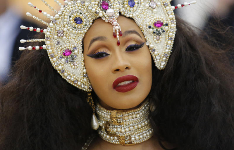 Rapper Cardi B at the MET Gala in 2017.