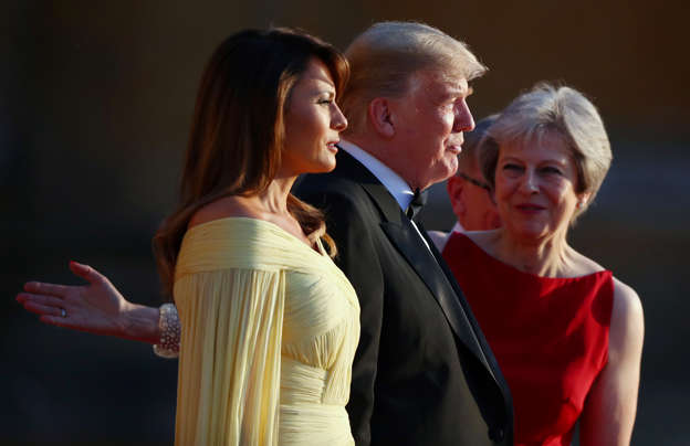 may bids for trump brexit backing with vow to rip up red tape