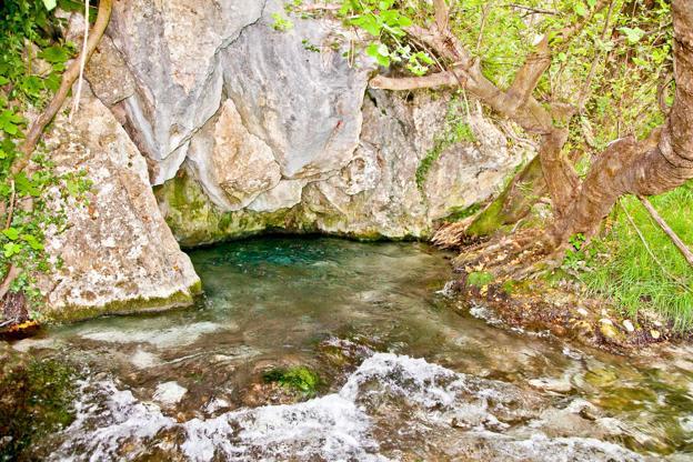 Διαφάνεια 12 από 35: Akilles's springs in gorge Acheron  river , Greece.