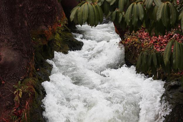 Διαφάνεια 34 από 35: Raging river in the waterfalls park in Edessa Greece Europe