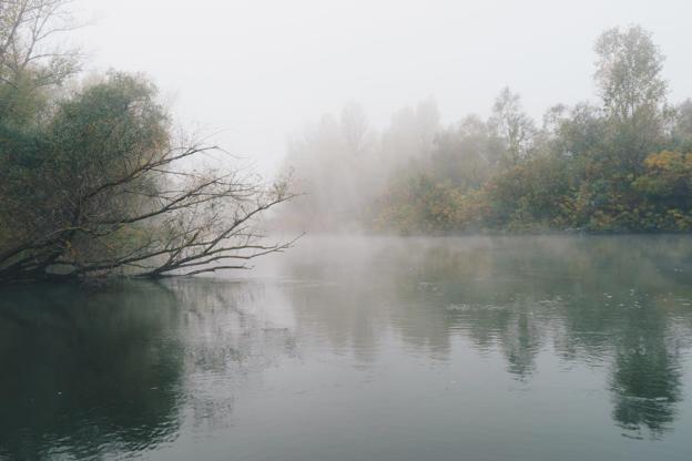 Διαφάνεια 3 από 35: Foggy morning on river Ardas in Greece.