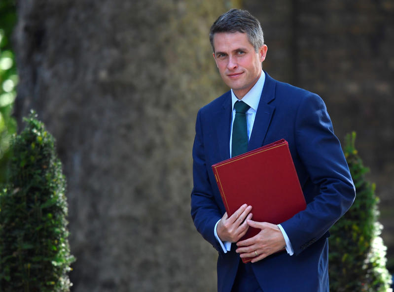 Britain's Secretary of State for Defence Gavin Williamson arrives in Downing Street in London, June 26, 2018. REUTERS/Toby Melville