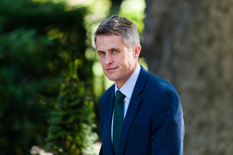 LONDON, UNITED KINGDOM - JUNE 26: Secretary of State for Defence Gavin Williamson arrives for a weekly cabinet meeting at 10 Downing Street in central London. June 26, 2018 in London, England. (Photo credit should read Wiktor Szymanowicz / Barcroft Media via Getty Images)