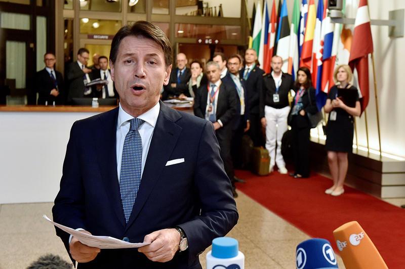 Italian Prime Minister Giuseppe Conte leaves a European Union leaders summit in Brussels, Belgium, June 29, 2018.