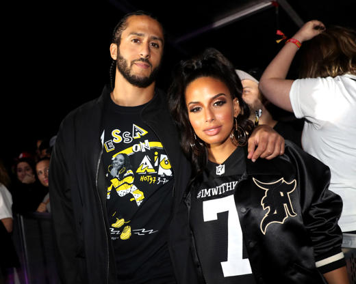 Slide 32 of 75: Colin Kaepernick (L) and Nessa attend Summer Jam 2018 at MetLife Stadium on June 10, 2018 in East Rutherford, New Jersey.  (Photo by Johnny Nunez/WireImage)