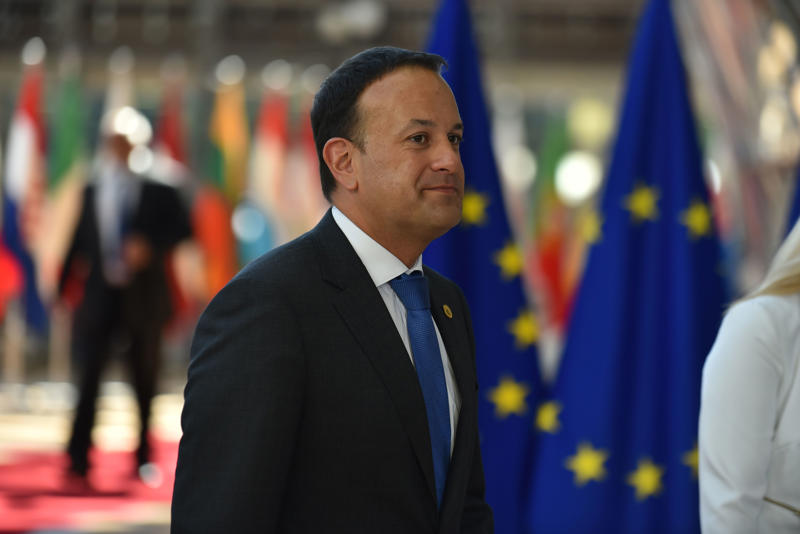 Irish Prime Minister Leo Varadkar arrives at The European Council summit in Brussels on June 28, 2018. European Union leaders meet today for the two-day European Council. The agenda includes discussion on migration, security and defence, leaders are expected to discuss EU-NATO cooperation ahead of the NATO summit in July. The European Council (Art. 50), in an EU 27 format, will review the state of play of Brexit negotiations and adopt conclusions on progress made. (Photo by Alberto Pezzali/NurPhoto via Getty Images)