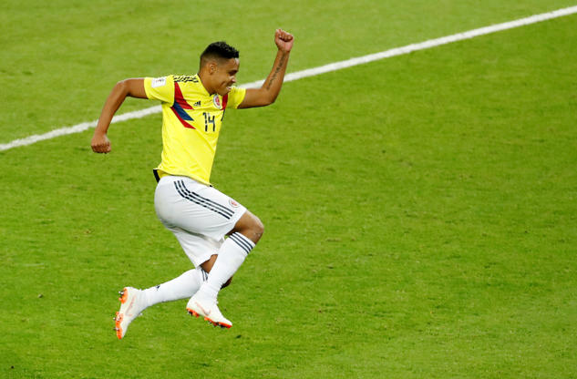 Slide 1 of 109: Soccer Football - World Cup - Round of 16 - Colombia vs England - Spartak Stadium, Moscow, Russia - July 3, 2018  Colombia's Luis Muriel celebrates scoring a penalty during the shootout                                               REUTERS/Christian Hartmann     TPX IMAGES OF THE DAY