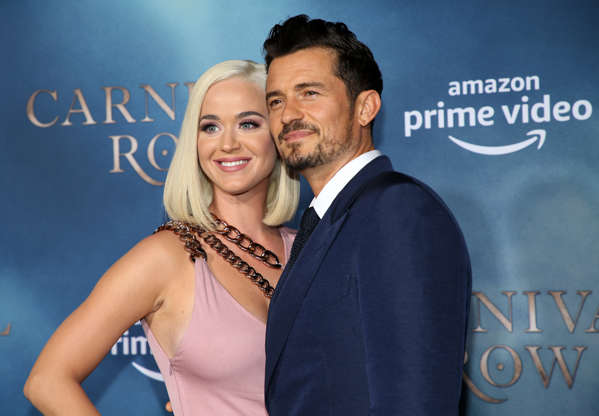 """Slide 3 of 52: HOLLYWOOD, CALIFORNIA - AUGUST 21: Katy Perry and Orlando Bloom attend the LA premiere of Amazon's """"Carnival Row"""" at TCL Chinese Theatre on August 21, 2019 in Hollywood, California. (Photo by Phillip Faraone/Getty Images)"""