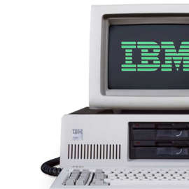 The IBM 5160 is a version of the IBM PC with a built-in hard drive. Released on March 8, 1983. The 5100 series are knowns as one of the first home computers.