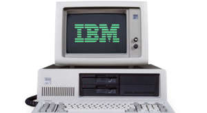 a close up of a computer: The IBM 5160 is a version of the IBM PC with a built-in hard drive. Released on March 8, 1983. The 5100 series are knowns as one of the first home computers.