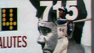 4/8/74: Milo Hamilton makes the call as Hank Aaron smashes his 715th career home run, breaking Babe Ruth's all-time mark  Check out http://m.mlb.com/video for our full archive of videos, and subscribe on YouTube for the best, exclusive MLB content: http://youtube.com/MLB      About MLB.com: Commissioner Allan H. (Bud) Selig announced on January 19, 2000, that the 30 Major League club owners voted unanimously to centralize all of Baseball's internet operations into an independent technology company. Major League Baseball Advanced Media (MLBAM) was formed and charged with developing, building and managing the most comprehensive baseball experience available on the internet. In August 2002, MLB.com streamed the first-ever live, full length MLB game when the Texas Rangers and New York Yankees faced off at Yankee Stadium. Since that time, millions of baseball fans around the world have subscribed to MLB.TV, the live video streaming product that airs every game in HD to nearly 400 different devices. MLB.com also provides an array of mobile apps for fans to choose from, including At Bat, the highest-grossing iOS sports app of all-time. MLB.com features a stable of club beat reporters and award-winning national columnists, the largest contingent of baseball reporters under one roof, who deliver over 100 original articles every day. MLB.com also offers extensive historical information and footage, online ticket sales, official baseball merchandise, authenticated memorabilia and collectibles and fantasy games.   Major League Baseball consists of 30 teams split between the American and National Leagues. The American League, originally founded in 1901, consists of the following teams: Baltimore Orioles; Boston Red Sox; Chicago White Sox; Cleveland Indians; Detroit Tigers; Houston Astros; Kansas City Royals; Los Angeles Angels of Anaheim; Minnesota Twins; New York Yankees; Oakland Athletics; Seattle Mariners; Tampa Bay Rays; Texas Rangers; and Toronto Blue Jays. The National League, originally founded in 1876, consists of the following teams: Arizona Diamondbacks; Atlanta Braves; Chicago Cubs; Cincinnati Reds; Colorado Rockies; Los Angeles Dodgers; Miami Marlins; Milwaukee Brewers; New York Mets; Philadelphia Phillies; Pittsburgh Pirates; San Diego Padres; San Francisco Giants; St. Louis Cardinals; and Washington Nationals.   Visit MLB.com: http://mlb.mlb.com Subscribe to MLB.TV: mlb.tv Download MLB.com At Bat: http://mlb.mlb.com/mobile/atbat Get tickets: http://mlb.mlb.com/tickets Official MLB Merchandise: http://mlb.mlb.com/shop   Join the conversation! Twitter: http://twitter.com/mlb Facebook: http://facebook.com/mlb Instagram: http://instagram.com/mlb Google+: https://plus.google.com/+MLB Tumblr: http://drawntomlb.com/ Pinterest: http://pinterest.com/MLBAM