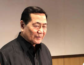 Antonio Carpio wearing a suit and tie: We will lose the West Philippine Sea without our allies, former Senior Associate Justice Antonio Carpio warns, in a forum at Ateneo. 2020Feb27