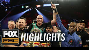 Frank Warren, Andy Lee, Tyson Fury, Kenny Bayless are posing for a picture: Tyson Fury defeated Deontay Wilder for the WBC Heavyweight Championship with a 7th round TKO. Fury was aggressive from the start, and never relented as he put Wilder on the canvas twice during the fight, before Wilder's corner eventually threw in the towel.  #PBConFOX #DeontayWilder #TysonFury #WilderFuryII  SUBSCRIBE for more from PBC ON FOX: http://foxs.pt/SubscribePBCONFOX  ►FOX Sports YouTube channel: http://foxs.pt/SubscribeFOXSPORTS  See more from PBC ON FOX: http://foxs.pt/PBCONFOXFoxSports  Like PBC ON FOX on Facebook: http://foxs.pt/PBCONFOXFacebook  Follow PBC ON FOX on Twitter: http://foxs.pt/PBCONFOXTwitter  Follow PBC ON FOX on Instagram: http://foxs.pt/PBCONFOXInstagram   About PBC ON FOX: The official FOX Sports home of PBC coverage. We see every jab, cross, and knockout and share it with you, THE FAN. Our talent includes past and current PBC fighters such as Lennox Lewis, Shawn Porter, Tony Harrison, Abner Mares, and many more.  PBC ON FOX content includes highlights, press conferences, weigh-ins and analysis from all PPV events and Fight Nights on FOX and FS1. You'll also find clips from original studio shows like 'Inside PBC Boxing' and 'PBC Face to Face' as well as the best from the top athletes in the sport.  Tyson Fury TKO's Deontay Wilder for heavyweight title | FULL HIGHLIGHTS | PBC ON FOX https://youtu.be/nWY3S2v773Y  PBC ON FOX https://www.youtube.com/channel/UCxm10NbD7LF1fVYcbHbcbXg