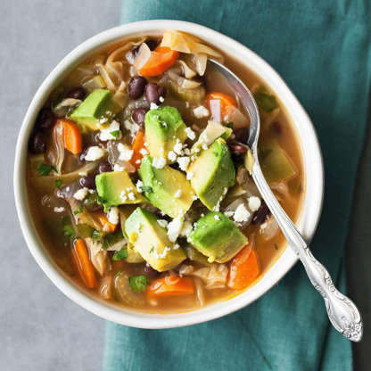 Slide 3 of 25: Based on a popular weight-loss plan, this healthy cabbage soup recipe gets tons of flavor and a metabolism-boosting kick from spicy chiles.