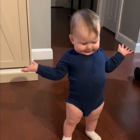 Baby has an adorable 'conversation' with his dad