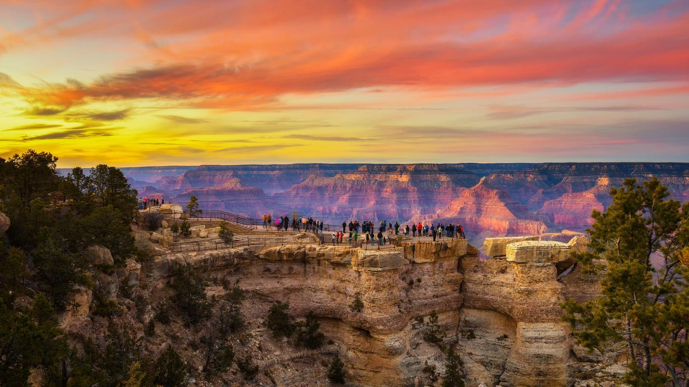 Slide 11 of 16: Like Yellowstone, Arizona's Grand Canyon National Park is as iconic as U.S. destinations come. This summer, the park's South Rim is open 24 hours a day with some visitor center services and overnight accommodations available as well.