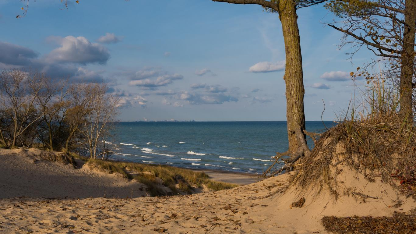 Slide 15 of 51: The beaches, dunes and wetlands of Indiana Dunes were shaped by wind, water and time, painting a fascinating geological picture of northern Indiana.