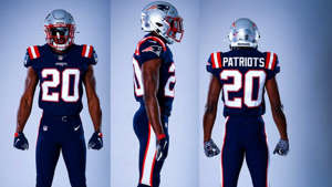 a group of people wearing costumes: Patriots-uniforms-Patriots-FTR-042020
