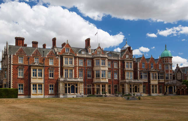Slide 37 of 53: Like Balmoral, Sandringham House in Norfolk is one of the Queen's private homes. Her Majesty spends Christmas at Sandringham and stays until February.