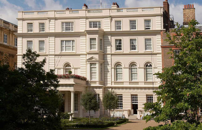 Slide 30 of 53: When Prince Charles and his wife Camilla stay in London, they call Clarence House home. Standing directly next to St James's Palace, the residence was previously home to the Queen Mother and also to The Queen and Duke of Edinburgh following their marriage in 1947.