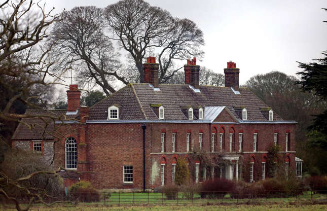 Slide 41 of 53: The spacious estate, which once housed a menagerie of animals, includes several well-appointed houses. The Georgian Amner Hall, for instance, is the country home of the Duke and Duchess of Cambridge, Prince William and Kate Middleton, after it was given to them by the Queen as a wedding gift.