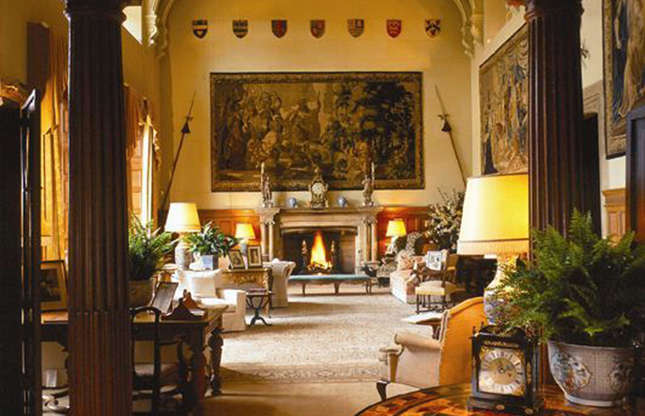 Slide 40 of 53: Sandringham is less grand and more relaxed than the Monarch's other residences. The ground floor, which is open to the public when the royals aren't in residence, is decorated in elegant Edwardian style.