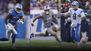 a group of baseball players playing a game of football: Lions-uniforms-060319-Getty-FTR