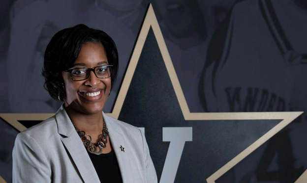 Slide 1 of 13: Candice Lee is introduced as Vanderbilt's interim athletic director at Memorial Gym Wednesday, Feb. 5, 2020 in Nashville, Tenn.