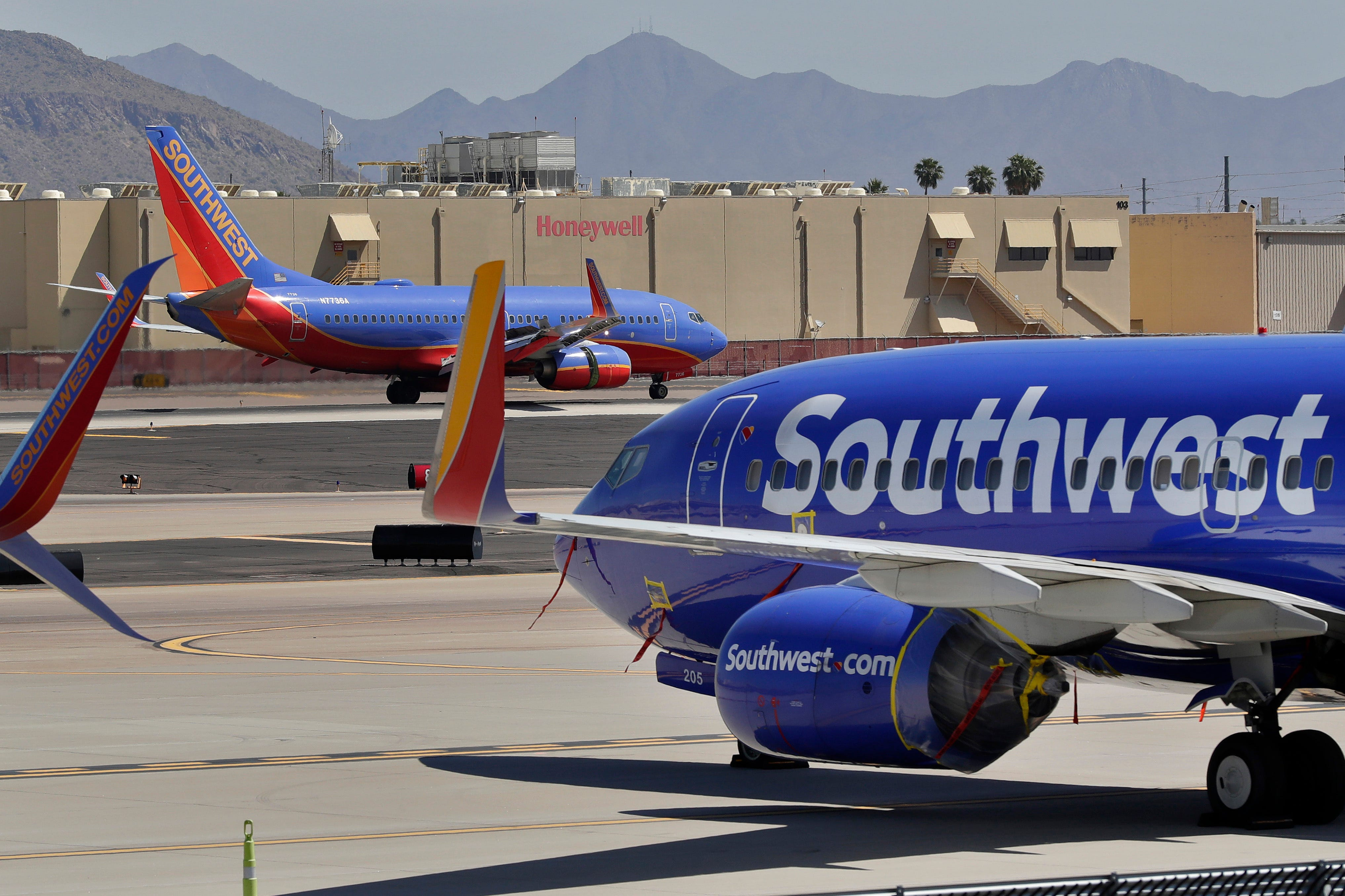 Slide 7 of 9: Southwest Airlines Who must wear: All passengers ages 2 and older Medical exemptions: None Prohibited face masks: Face coverings with holes, including exhaust valves; face coverings made solely of mesh or lace; bandannas and other face coverings that cannot be secured under the chin; face shields without a face covering underneath. Neck gaiters are allowed if they cover the nose and mouth and are secured under the chin. Details:  Southwest website