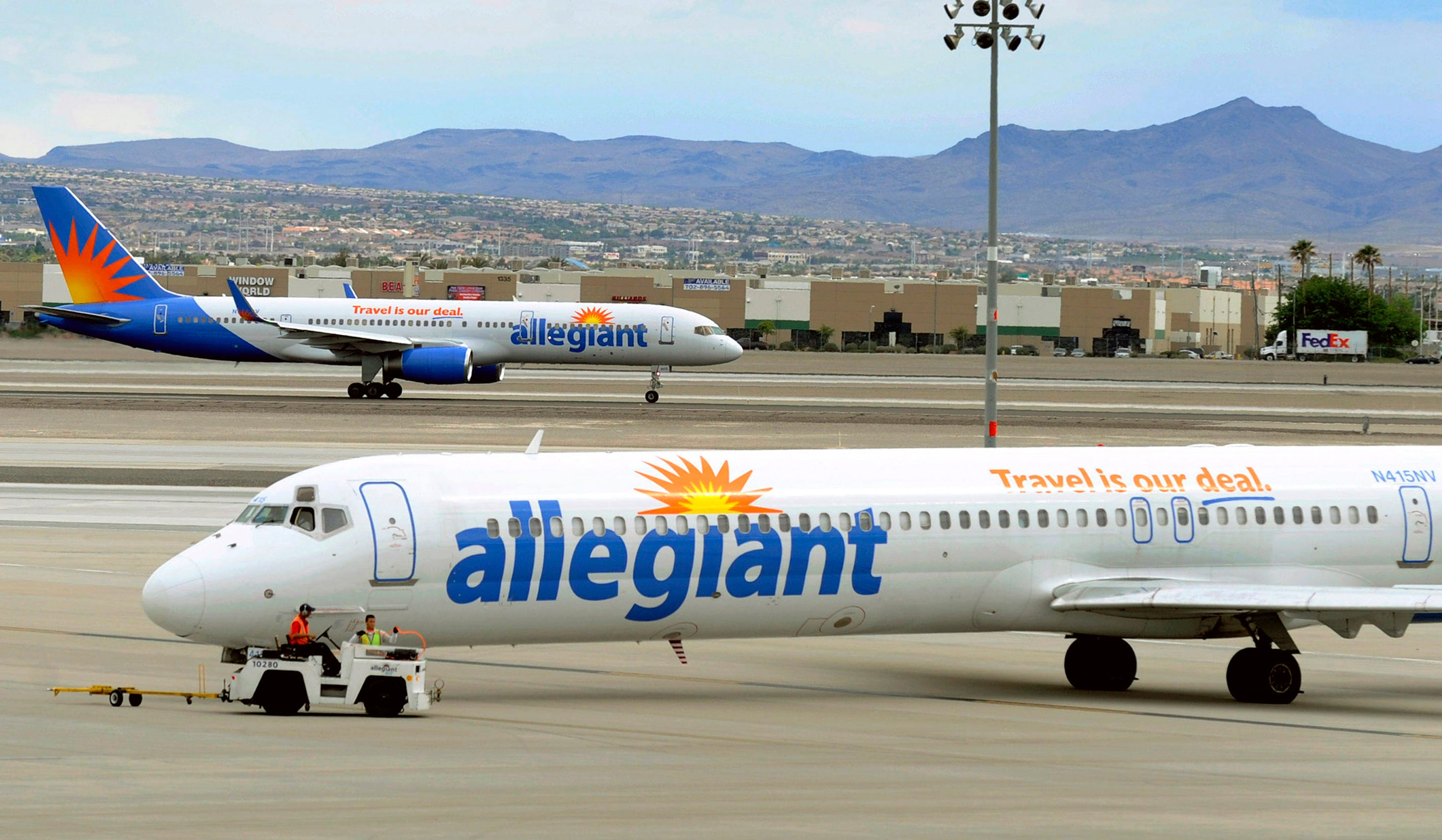 Slide 2 of 9: Allegiant Air Who must wear: All passengers ages 2 and older Medical exemptions: Passengers with medical conditions that prevent the use of a face covering must present documentation from a medical doctor to the gate agent one hour prior to departure. Prohibited face coverings: None Details:  Allegiant website