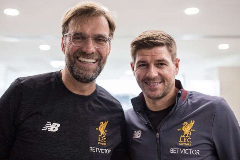 Jurgen Klopp, Alex Curran are posing for a picture: Steven Gerrard is the current favourite to replace Klopp in 2024