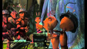 "DreamWorks and Pacific Data Images collaborated on this all computer-animated comedy-adventure about the ant angst of misfit worker ant, Z (voice of Woody Allen), who feels trapped by the conformist confines of his totalitarian ant civilization and eventually sets forth in search of Insectopia. After DreamWorks began animating Prince of Egypt June 1, 1995, the company launched Antz in Palo Alto a year later (5/20/96), the same month the DreamWorks/PDI partnership was announced. The screenplay by Chris and Paul Weitz and Todd Alcott has uncredited input by Woody Allen (who matched dialogue to fit his usual style of verbal delivery). The story suggests the possible influence of Yevgeny Zamatin's classic novel We (1923) and Ayn Rand's similar-themed Anthem (1936), filmed in the early '70s in a rarely seen unauthorized film adaptation (which Rand never allowed to be shown commercially). Following the 1995 Toy Story (1995), Antz is the second fully computer-animated feature, preceding the release of Disney's all-CGI A Bug's Life by seven weeks. Antz begins with worker ant Z discussing his feelings of insignificance with a shrink (voice of Paul Mazursky) before heading off to his tunnel-digging job, work supervised by General Mandible (Gene Hackman) and Colonel Cutter (Christopher Walken). Mandible has big dreams of conquest, and he convinces the Queen (Anne Bancroft) an attack is necessary to prevent a termite invasion. Her daughter is Princess Bala (Sharon Stone), who's not overly enchanted by her engagement to Mandible. The Princess goes slumming, visiting the bar where Z hangs out with his friend Weaver (Sylvester Stallone). To the tune of ""Guantanamera,"" Bala dances with Z in a scene with allusions to the dance in Pulp Fiction (1994). Entranced by the encounter, Z convinces Weaver to swap places, so a military parade will allow him to see Bala in the reviewing stand. Befriended by soldier ant Barbatus (Danny Glover) during the parade, Z nervously realizes he's actually marching into battle. Attacked by termites, the troops experience horrors highly reminiscent of the Starship Troopers (1997) bug battles. The dying Barbatus tells Z, ""Don't follow orders all your life."" As the only survivor of the slaughter, Z returns home a war hero. Threatened by Mandible, Bala and Z are thrown together in a journey into the outside world, and they travel toward the legendary Insectopia. Major city newspaper critics were almost unanimous in their praise of Antz. Shown at the 1998 Toronto Film Festival."