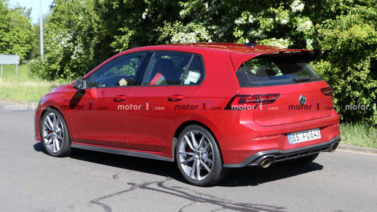 2021 Vw Golf Gti Tcr Spied Up Close