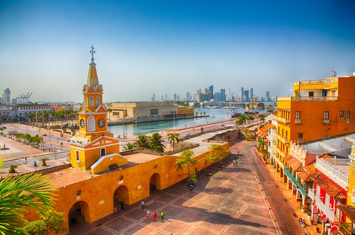 Slide 7 of 23: Cartagena is a city rich with history, lush landscapes, and a vivid nightlife. The juxtaposition of old and new — the city's historic influences and vibrant modern attractions — is alluring, to say the least. As you walk the picturesque streets of its old town and past the brightly colored Spanish-colonial architecture of the 500-year-old city, you're reminded of the history within its walls.Beyond the city's enchanting historic center, you'll find the traditional cuisine and enough activities, festivals, and romantic charm to make Cartagena a special place to fulfill your wanderlust.