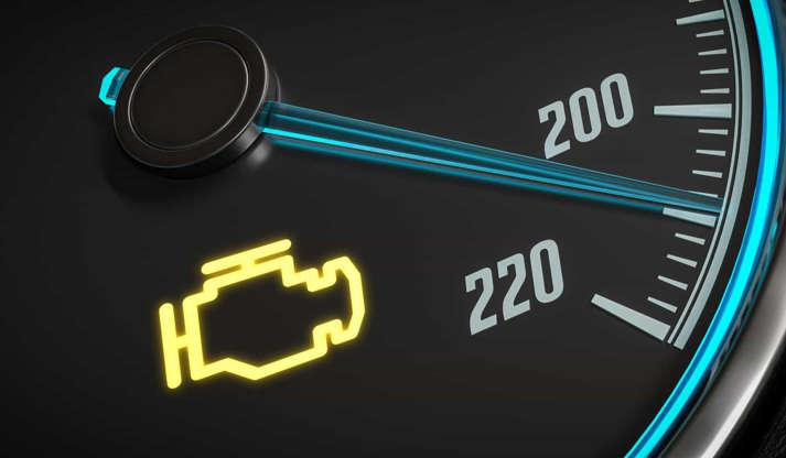 Diapositivo 3 de 29: Deverá encostar o carro imediatamente caso a luz acenda, uma vez que por norma significa que existe um problema sério com o motor. Caso continue a conduzir poderá vir a causar sérios danos ao automóvel.