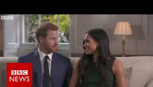 "Prince Harry, aged 33, and Ms Markle, aged 36, are to marry in the spring He said the ""stars were aligned"" when they fell in love and he proposed over roast chicken Appearing for photos outside Kensington Palace earlier, Prince Harry said he was ""thrilled"" The couple secretly got engaged earlier this month The Queen and Prince Philip are ""delighted for the couple"" Ms Markle is an actress and humanitarian campaigner  Please subscribe HERE http://bit.ly/1rbfUog  World In Pictures https://www.youtube.com/playlist?list=PLS3XGZxi7cBX37n4R0UGJN-TLiQOm7ZTP Big Hitters https://www.youtube.com/playlist?list=PLS3XGZxi7cBUME-LUrFkDwFmiEc3jwMXP Just Good News https://www.youtube.com/playlist?list=PLS3XGZxi7cBUsYo_P26cjihXLN-k3w246"