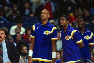 Kareem Abdul-Jabbar, Magic Johnson, Orlando Woolridge are posing for a picture: The NBA, at least over the last few four of five decades, has been a league of superstars. However, when it comes to team success and winning championships, two are usually better than one.Here's a ranking of the NBA's top teammate duos throughout league history.