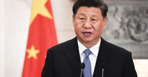 Xi Jinping wearing a suit and tie: Chinese President Xi Jinping
