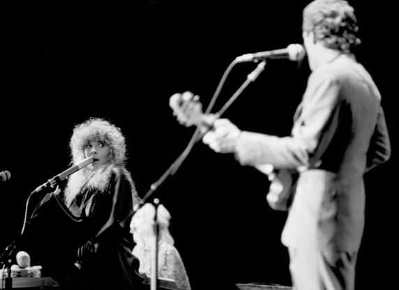 """Slide 4 of 43: Fleetwood Mac was famous for not only their music, but also their tangled love lives. But out of all of that drama, they created several iconic songs, including """"Go Your Own Way,"""" which Lindsey Buckingham wrote as a breakup message directed at Stevie Nicks."""
