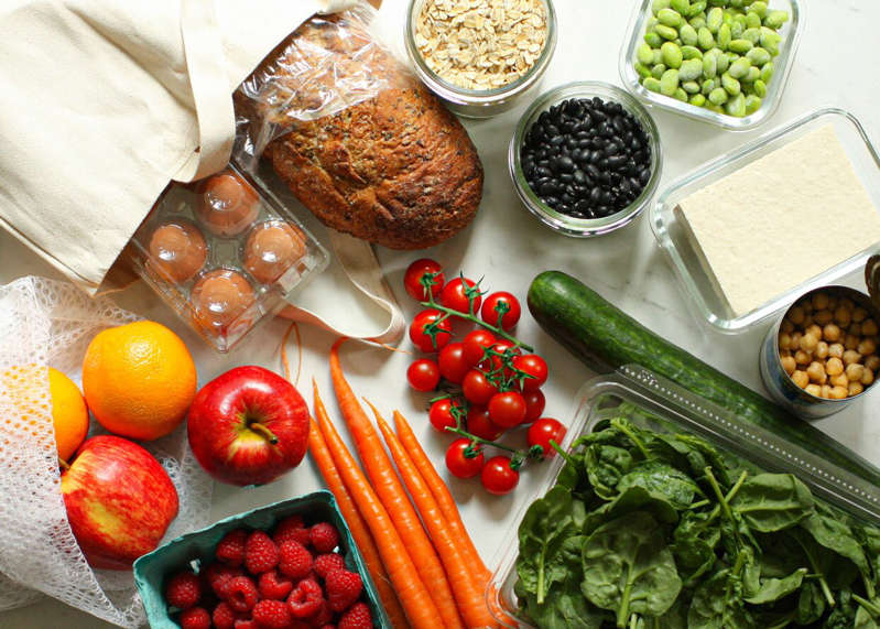 a variety of food on a table: Carolyn A. Hodges, R.D.