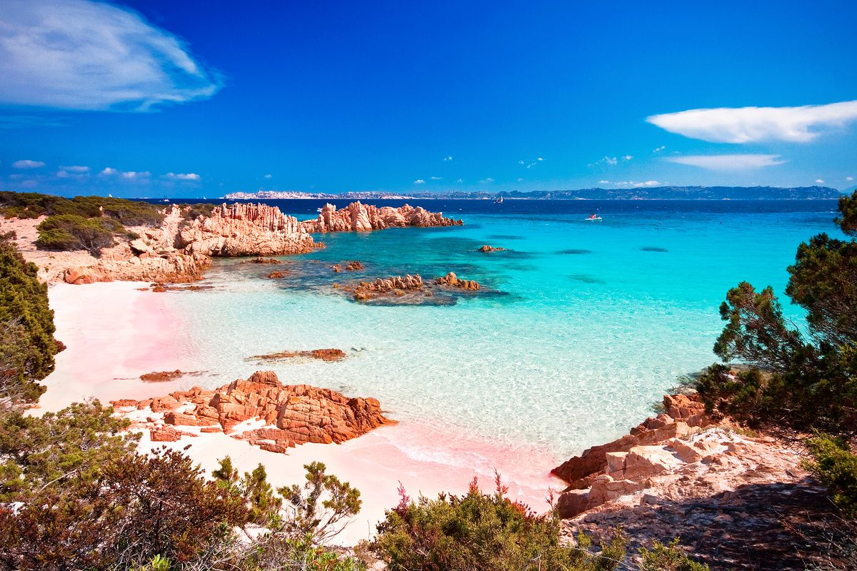 Slide 25 of 41: Pink sand beaches are just. so. cute. And photogenic, of course. Just off the northern coast of Sardinia, Budelli is an Italian island is beach bliss epitomized.