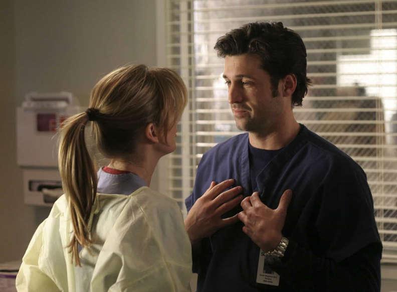 Slide 5 de 31: A história de amor entre os médicos Meredith Grey e Derrick Shepherd (também conhecido como 'McDreamy') figuram no topo dessa lista.